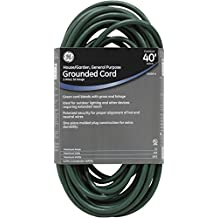 GE 55006 Indoor/Outdoor 40-Foot General Purpose Grounded Extension Cord (Green)