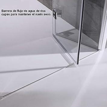 Goldge Junta para mampara de ducha   Junta de goma de repuesto Fabricado en PVC Duro y PVC Suave Ajustable Usar a el Cristal de 6 mm: Amazon.es: Bricolaje y herramientas