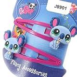 Hair-clip pair 'Pet Shop' blue.