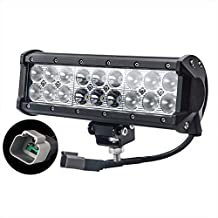 LITE-WAY 9Inch 90W Cree LED Work Light Bar with Mounting Brackets & Wiring Harness Spot Flood Combo Driving Lamp Waterproof for Trucks Off road Suv Boat 4X4 Jeep JK 4Wd