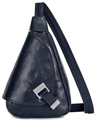 Rucksack bag Italian Small Deep Genuine Leather Backpack MILA in LIATALIA Navy Duffle 4IEaqxA
