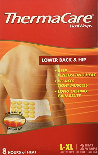 (Thermacare Lower Back & Hip HeatWraps, L/XL, 8 Hour-2ct)