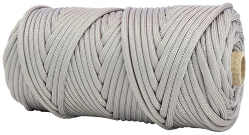 Tough Grid 750Lb Silver Gray Paracord   Parachute Cord   Genuine Mil Spec Type Iv 750Lb Paracord Used By The Us Military  Mil C 5040 H    100  Nylon   Made In The Usa  200Ft    Silver Gray