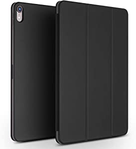 """iPad Pro 11 inch Case 2018, Slim Smart Cover Leather Case, QIALINO Sleep Wake Functional Protector for 11"""" Apple ipad pro,Black"""