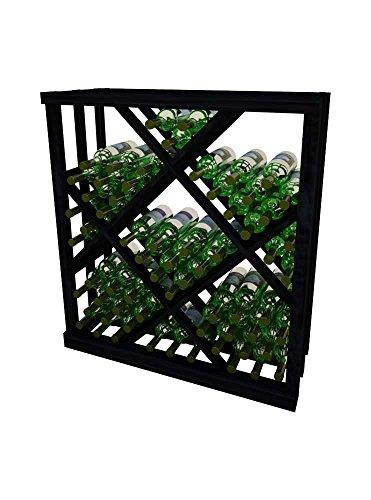 Vintner Series Wine Rack - Open Diamond Bin - 3 Ft - Allheart Redwood with Midnight Black Stain