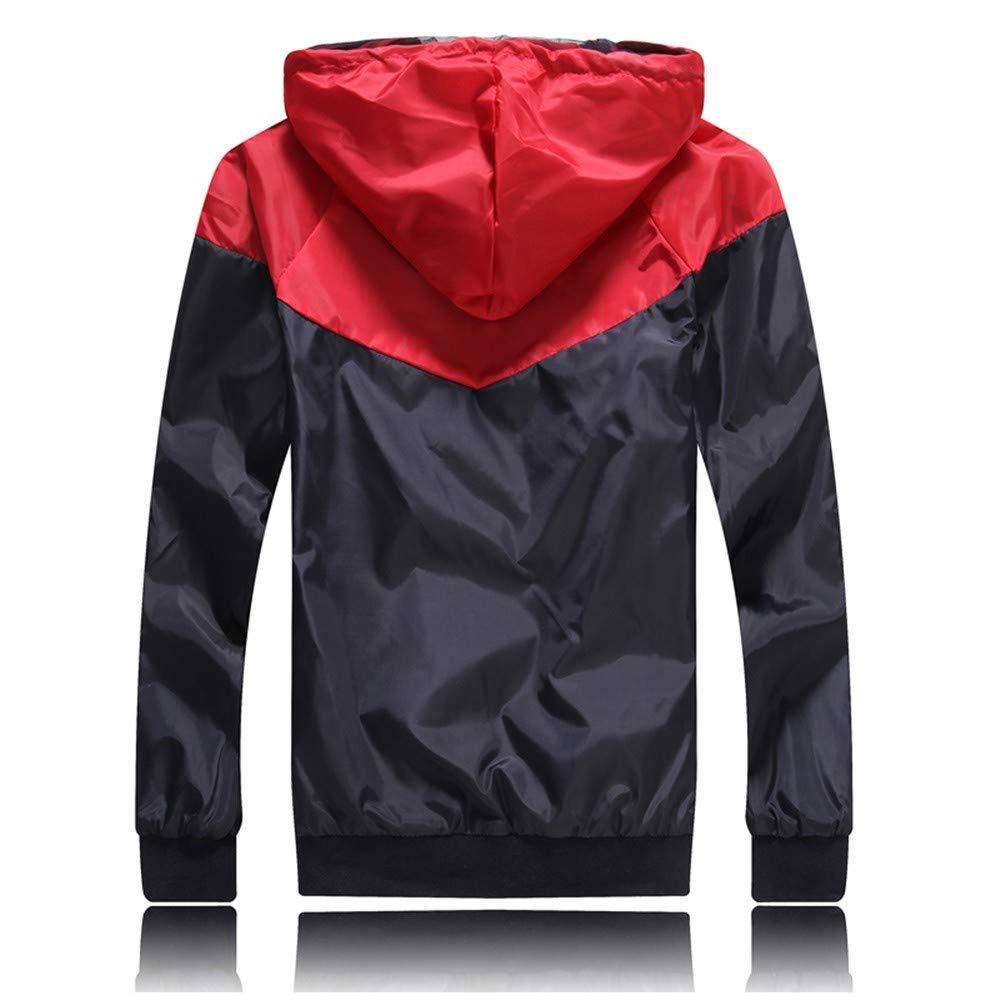 Zolimx Freizeitjacke Patchwork SweatjackeLangarm Zipper Sweatshirt Hoodie Kapuzenpullover Mantel Sportswear Tops Möbel & Zubehör für die frühkindliche Bildung