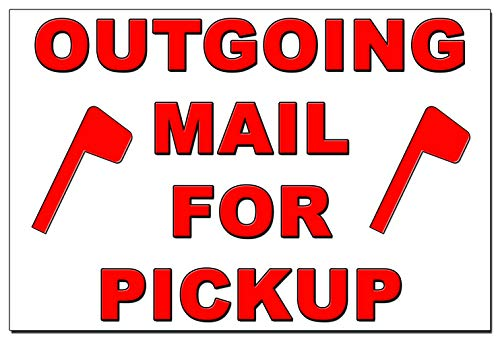 Outgoing Mail for Pickup Magnet - 4x6 Heavy Duty 55 Mil -