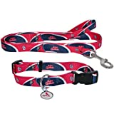 St. Louis Cardinals Pet Set Dog Leash Collar ID Tag MEDIUM