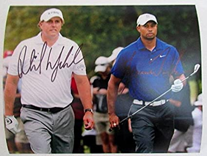 a70bd84c08d Phil Mickelson   Tiger Woods Autographed 8x10 Photograph at Amazon s ...