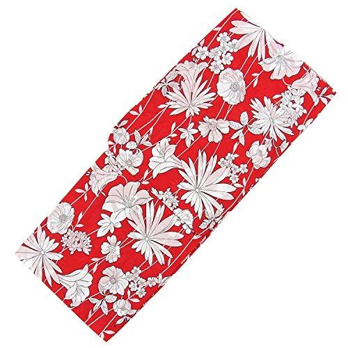 執着割合り浴衣 女性 単品 おしゃれ モダン 華やか ゆかた 赤 白 単色 ボタニカル レディース