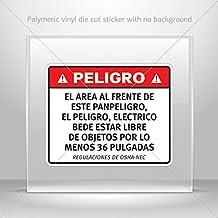 Decals Stickers Peligro, El area al frente de este panPeligro, El Peli (4 X 3.23 Inches)