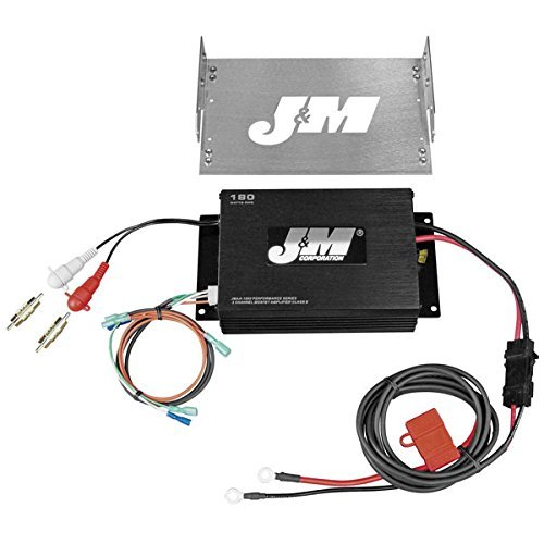 J&M Perf 180w 2-Channel Amp Kit for Harley Davidson 1998-2013 Street Glide/Ultr - One Size