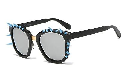 XW Gafas Remache Gafas de Sol polarizadas Retro Punk Wind Sunglasses Polarizadas Gafas de Alta Definición