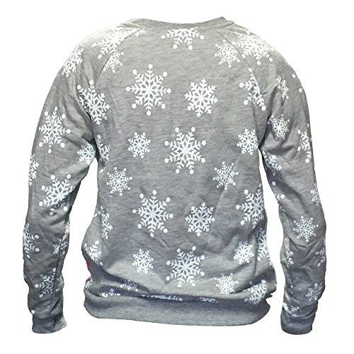 Disney Womens Mickey Mouse Ugly Christmas Sweater Fleece Sweatshirt