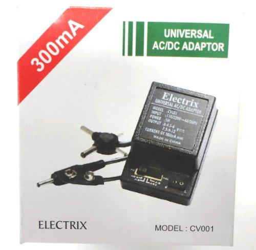 Universal Handheld Ac Adaptor - 300 mA 5W Universal AC DC Adapter Converter Transformer 3 4.5 6 7.5 9 12 V International Battery Save