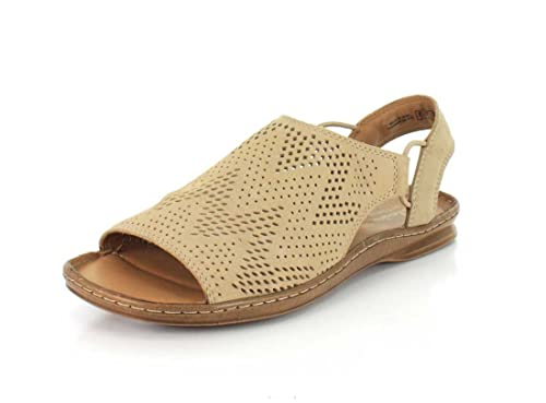 55864ef0a31 Clarks Sarla Cadence Womens Flat Slingback Sandals Sand Nubuck 7. 5  Buy  Online at Low Prices in India - Amazon.in