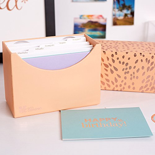 Mini Life Gold Tabs - Erin Condren Stationery Set - All Occasions Greeting Cards. 15 Total Cards & Envelopes with Sealing Stickers for Birthdays, Thanks, Congratulations, Inspiration and Support.