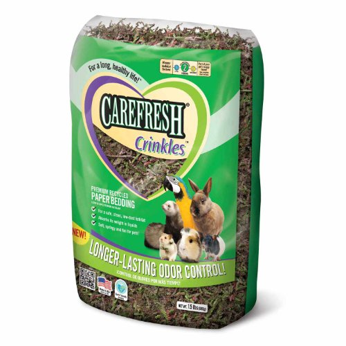 Absorbtion Corp Carefresh Crinkles Paper Pet Bedding forest, 1.5-Pound