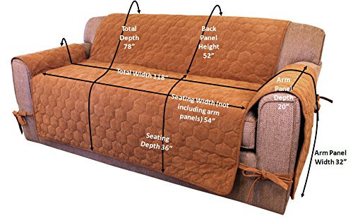 Perfect Amazon.com: Floppy Ears Design Waterproof Sit And Stay Micro Suede Pet Couch  Protector Furniture Cover, Saddle Color, Two Cushion Couch Loveseat Size:  ...
