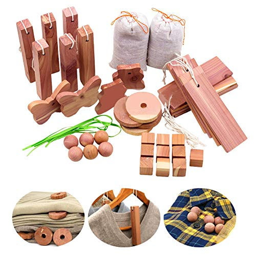 vinmax 40pcs Aromatic Cedar Wood Blocks for Closets Storage, 100% Natural Red Cedar Balls Hangers Clothes Protector, Storage Accessories Closets & Drawers Freshener