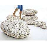 WOWMAX Three-dimensional Curve Huge Home Decoration Living Stones Floor Pillows 7 Piece Set Mixed Designs Stuffed Throw Pillows Big Rock Pillows New Pebble Pillows 7 PCS Granite