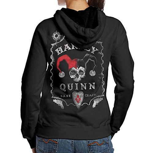 Harley Quinn Hoodie (Fashion Hoodies For Women Harley Quinn Spirit Board Sweatshirts)