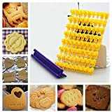 Kurtzy Frill Edge Number Letters Press Mold Cutter For Decorating Fondant Icing Frosting Cup Cake Muffins Biscuits Pies Cookies Desserts (Pack Of 81)