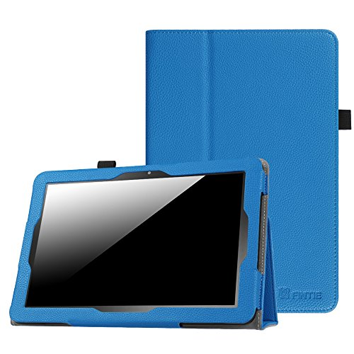 Insignia 10.1 Inch Tablet NS-P10A7100 / NS-P10A8100 Case, Fintie Slim Fit Premium Vegan Leather Folio Cover with Stylus Holder for Insignia Flex NS-P10A7100 / NS-P10A8100 Android Tablet, Royal Blue