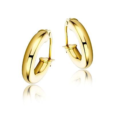 Miore Earrings Women Hoops Yellow Gold 9 Kt/375 rWO768v8J