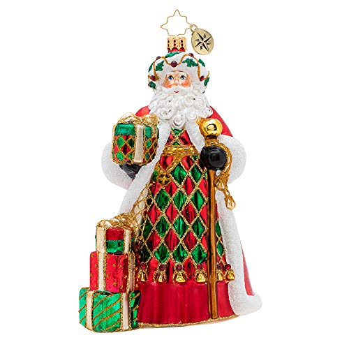 Harlequin Santa (Christopher Radko Holiday Harlequin Santa Christmas Ornament, red, White, Green)