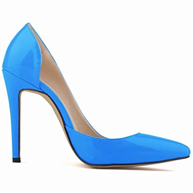 b40e50159d3 Loslandifen Star Pointed Toe Solid High Heels Shoes Nightclub Women s Pumps  Thin Heels Slip On Shoes