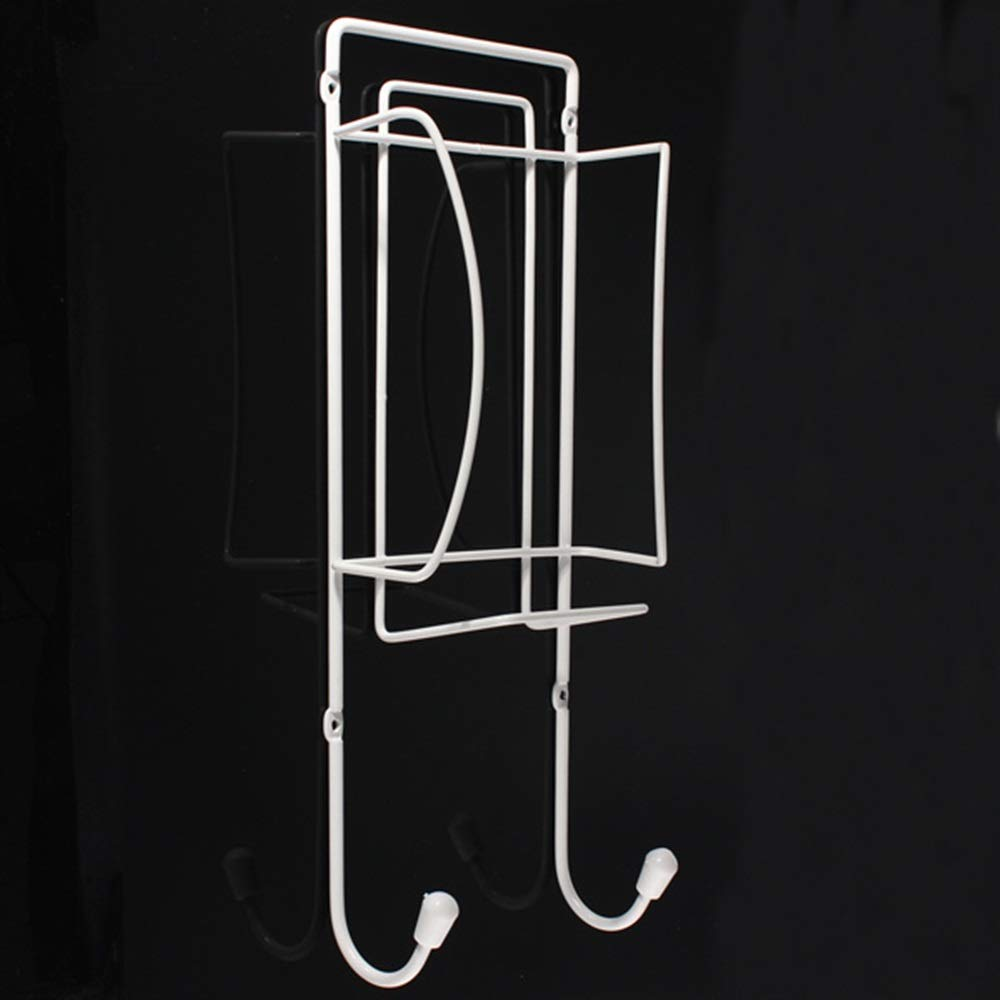 Tuersuer Easy to Assemble Metal Ironing Board Holder Electric Iron Holder Household Bathroom Shelves for Kitchen