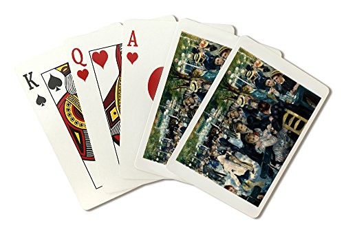 Bal de moulin de la Galette - Masterpiece Classic - Artist: Pierre-Auguste Renoir c. 1876 (Playing Card Deck - 52 Card Poker Size with Jokers) (Auguste Renoir Moulin De La Galette 1876)