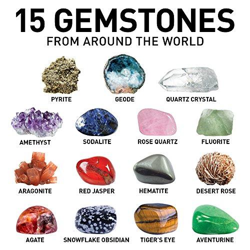 517WrW0hTdL - NATIONAL GEOGRAPHIC Mega Gemstone Dig Kit-Excavate 15 real Gems including Amethyst, Tiger's Eye and Quartz