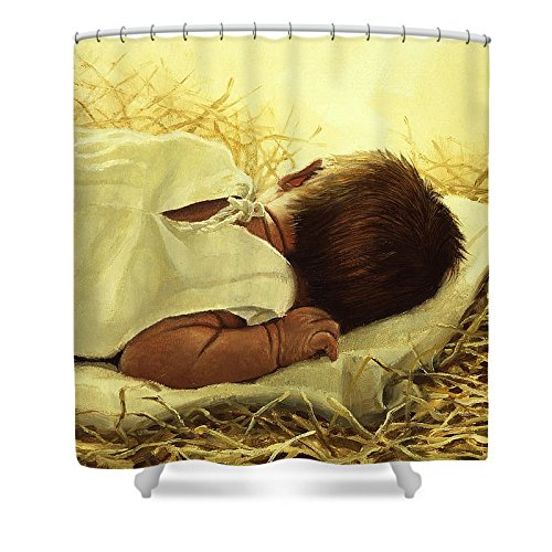 Pixels Shower Curtain (74'' x 71'') ''The Gift Of God'' by Pixels