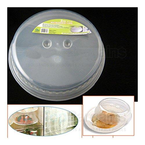 "2 Microwave Plate Cover Lid 10"" Plastic Safe Dish Splatte..."