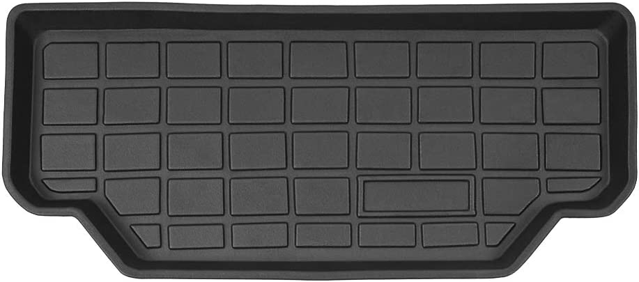 Mixsuper 3D Frunk Cargo Liner Custom Fit Model S Front Trunk Mat Non-Skid Black Rubber Storage Cargo Tray for Tesla Model S 2016-2021