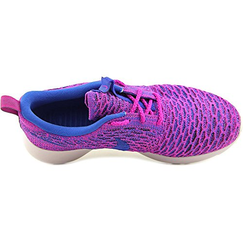NikeRoshe Flyknit - Zapatillas de Running Mujer - fuchsia flash/gm royal-blk-vnc