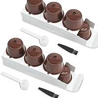 6 piezas Cápsulas Filtros de Café con Cuchara y Cepillo, Coffee Capsule Cup Reemplazo de Kit de Filtro Recargable…