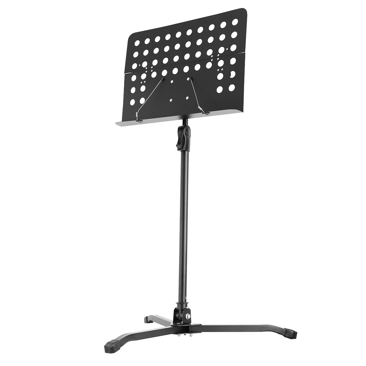 PaPaJet Professional Collapsible Folding Orchestra Sheet Music Stand Portable Music Stand with Carrying Bag (Black) 4336350096