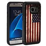 S7 Case, Galaxy S7 Case,Rossy Retro Vintage Old USA American Flag Design Shock-Absorption Drop Protection Hybrid Dual Layer Armor Defender Full Body Protective Case Cover for Samsung Galaxy S7