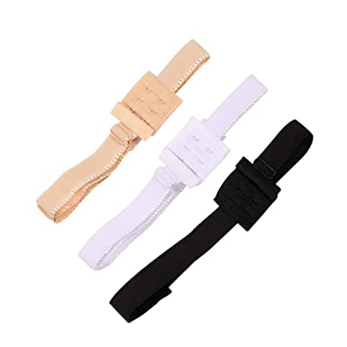 c9af8f2c3e6fe RETON Low Back Bra Straps Converter Women Girls Dresses Backless Adjustable  Bra Extenders Hook (Black Beige White)  Amazon.co.uk  Clothing