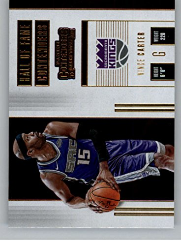 Carter Basketball Vince (2017-18 Panini Contenders Hall of Fame Contenders #11 Vince Carter Sac Kings Basketball Card)