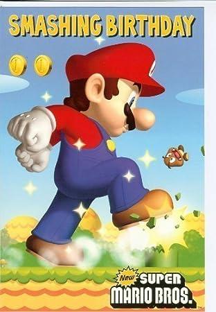 Super Mario Carte De Joyeux Anniversaire Amazon Fr Jeux Et Jouets