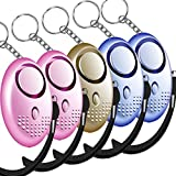 Sonkir Personal Alarm, 5 Pack 130dB Safesound Personal Alarm Keychain, Emergency Self Defense Electronic Device with LED Light for Women Kids and Elderly