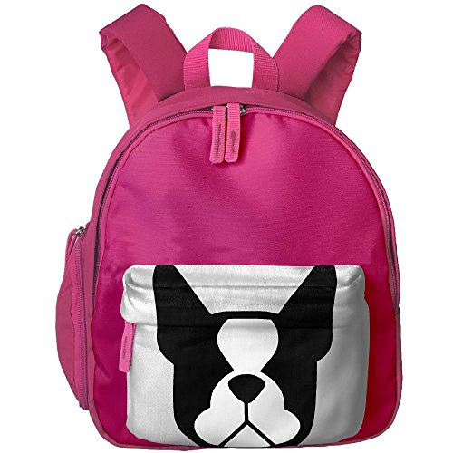 Boston Terrier Baby Toddler Pre School Backpack Fun Cartoon Style Childrens School Bag Mini Sidekick Backpack Best For Boys Girls School (Bag Boston Baby)