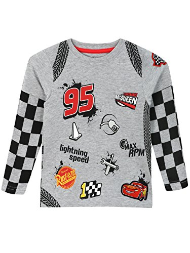 Sleeved Boys Long Toddler Disney - Disney Cars Boys' Cars Long Sleeved Top Size 3T