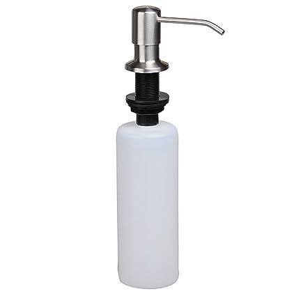 Cusfull Dispensador de Jabón de Acero Inoxidable Botella de Plástico Dispensador Bomba de Jabón Líquidos Loción