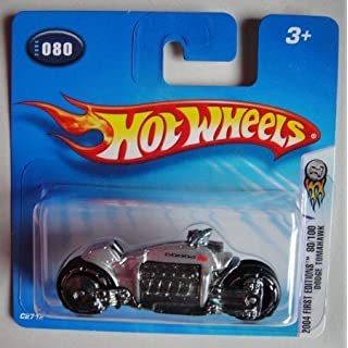 HOT WHEELS 2004 FIRST EDITION SILVER DODGE TOMAHAWK #80 SHORT CARD