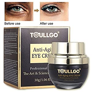 Eye Cream Anti Aging, Eye Cream Moisturizer, Eye Gel for Dark Circles, Puffiness, Wrinkles, Bags